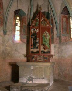 Pozdně gotická křídlová utrakvistická archa